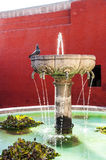 Santa Catalina fountain in Arequipa monastery Royalty Free Stock Photography