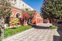 Santa Catalina monastery in Arequipa. Cloister in Santa Catalina monastery in Arequipa, Peru stock photography