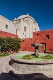 Santa Catalina monastery in Arequipa. Fountain in Santa Catalina monastery in Arequipa, Peru royalty free stock photos