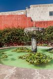 Santa Catalina monastery in Arequipa. Fountain in Santa Catalina monastery in Arequipa, Peru stock images