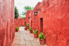 Santa Catalina Monastery a Arequipa, Perù Fotografie Stock