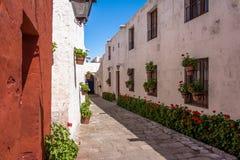 Santa Catalina Monastery - Arequipa, Perù fotografia stock