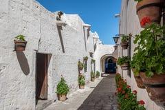 Santa Catalina Monastery - Arequipa, Perù immagini stock libere da diritti