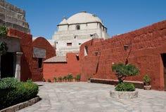 Santa Catalina Monastery, Arequipa, Peru. Corridor in Santa Catalina Monastery, Arequipa, Peru Royalty Free Stock Image