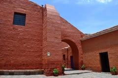 Santa Catalina Monastery, Arequipa, Peru. Santa Catalina monastery from Arequipa Peru is a monastery of noun. It was struck twice by earthquakes, severely Royalty Free Stock Photo