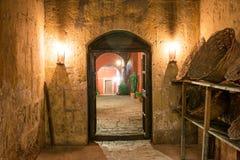 Santa Catalina Monastery Hallway Στοκ Εικόνα