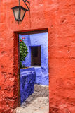 Santa Catalina Monastery no Peru de Arequipa Imagens de Stock Royalty Free