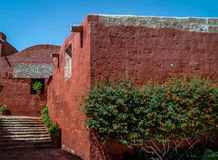 Santa Catalina Monastery with a religious quote on the wall - Ar Stock Photos