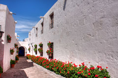 Santa Catalina Monastry Corridor Stock Images