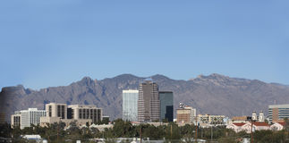 Santa Catalina mountains and Tucson, AZ Stock Photo