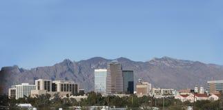 Santa Catalina mountains and Tucson, AZ Stock Photo