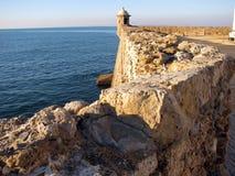 Santa Catalina slott i Cadiz Arkivbild
