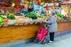 Santa Catarina Market in Barcelona, Spain Stock Photo