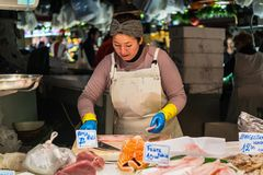 Santa Catarina Market in Barcelona, Spain Royalty Free Stock Photo