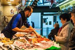Santa Catarina Market en Barcelona, España Foto de archivo