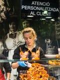 Santa Catarina Market en Barcelona, España Fotos de archivo libres de regalías