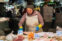 Santa Catarina Market en Barcelona, España Foto de archivo libre de regalías