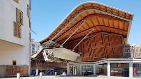Santa Catarina Market exterior em Barcelona, Catalonia, Espanha imagens de stock royalty free