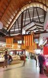 Santa Catarina Market interna a Barcellona, Catalogna, Spagna fotografia stock libera da diritti