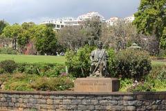 Santa Catarina Park e monumento per Christopher Columbus nel divertimento fotografie stock libere da diritti