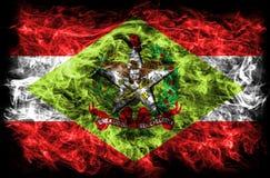 Santa Catarina rökflagga, tillstånd i sydliga Brasilien Royaltyfri Foto