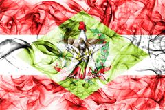 Santa Catarina rökflagga, tillstånd i sydliga Brasilien Arkivfoto