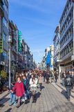 Santa Catarina Street, the main shopping street of the city Royalty Free Stock Photos