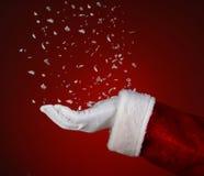 Santa Catching Snowflakes Image libre de droits