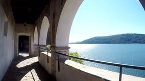 Santa Caterina del Sasso Italia almacen de metraje de vídeo