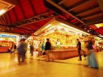 Santa Caterina Fresh Food Market in Barcelona Stock Images