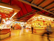 Santa Caterina Fresh Food Market in Barcelona Royalty Free Stock Photos