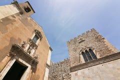 Santa Caterina kościół w Taormina, Sicily, Włochy obrazy royalty free