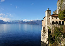 Santa Caterina landscape. Santa Caterina hermitage, Maggiore lake panorama and view of mother island and alps Stock Images