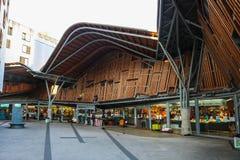 Santa Caterina lokal marknad i Barcelona Spanien Arkivbild