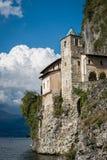 Santa Caterina Monastery på sjön Maggiore, Italien Arkivbilder