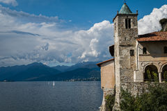 Santa Caterina Monastery på sjön Maggiore, Italien Royaltyfria Foton
