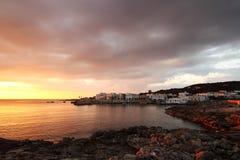 Santa Caterina of Nardò - Italia. The sunset of Santa Caterina of Nardo in Italy Stock Photography