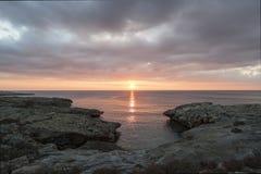 Santa Caterina in Salento bij zonsondergang Royalty-vrije Stock Afbeelding