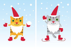 Santa Cats Stock Images