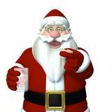Santa Caught Putting in his Dentures Royalty Free Stock Photo