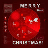 Santa caught on radar - it's christmas time Royalty Free Stock Photo