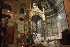 Santa Cecilia Canopy in Rome, Italy Royalty Free Stock Photo