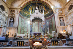 Santa Cecilia church in Rome Royalty Free Stock Photos