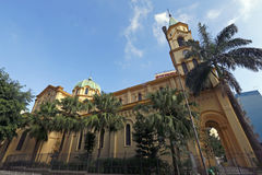 Santa Cecilia's church, in Sao Paulo. SAO PAULO, SP, BRAZIL -  MAY 16, 2015 - Santa Cecilia's church, patron saint of musicians, built in 1901, in Sao Paulo Stock Photo