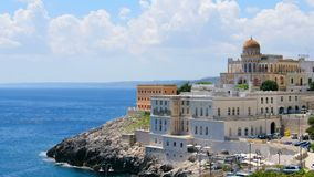 Santa Cesarea Terme Villa Sticchi in Salento Apulia region Lecce stock video footage