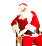 Santa in chair Stock Image