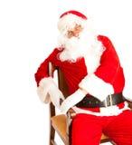 Santa in chair Stock Image