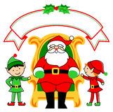 Santa Chair and Elves/eps stock images