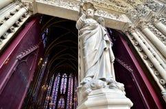 Sainte Chapelle across the doors Stock Photo
