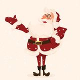 Santa character. Cartoon vector illustration. Stock Images